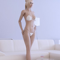 3d model blonde girl female