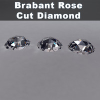 brabant rose cut diamond 3d model