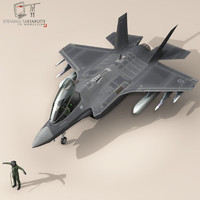 pilot air force fighters 3d obj