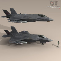 3d model pilot - air force