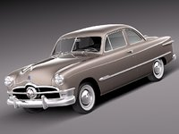 3d model of v8 antique coupe 1950
