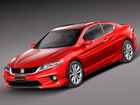 3d honda accord coupe sport model