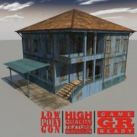 weathered house games 3d model