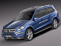 mercedes benz gl 2013 3d 3ds