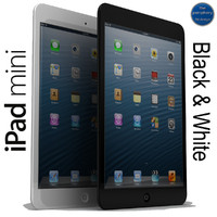 apple ipad mini black 3d 3ds