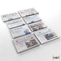 folded newspapers 3d model