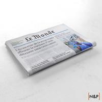newspaper le monde 3d model