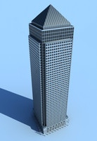 3d canada canary wharf model