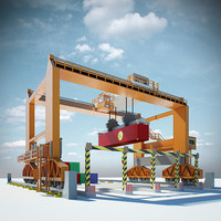 rmg gantry container crane 3d model