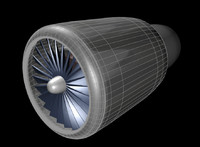 3d model gas turbine