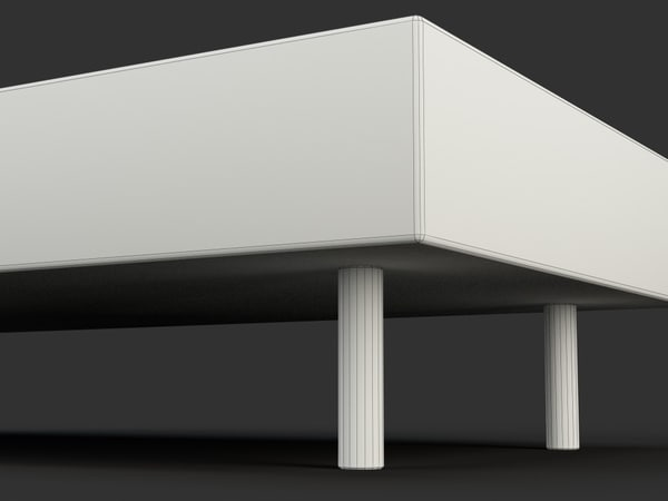 3d model coffee table striped - Striped Coffee Table... by Monaco Felice