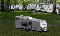 3d travel trailer model