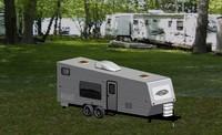 3d travel trailer model