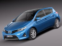 toyota auris 2013 car 3d model