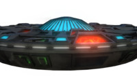 3d model of ufo flying saucer