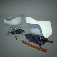 3d model vitra eames plastic