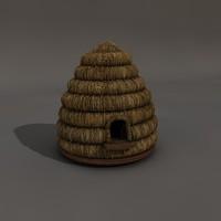 3d model beehive bee