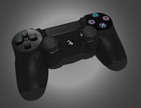 3d model dualshock 4 controller res