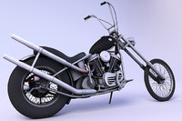 harley davidson chopper 1969 3d model