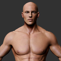 3d model realistic male body character
