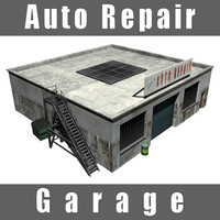 3d auto repair garage model