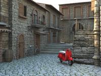 3d italian alley model