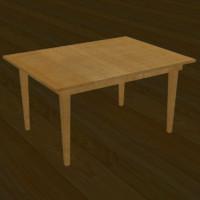 realistic table 3d model