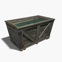 3d water trough model