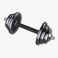 3d model adjustable dumbbell
