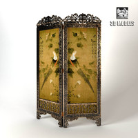 3ds max china folding screen