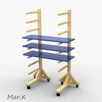 3d model carpenter stand