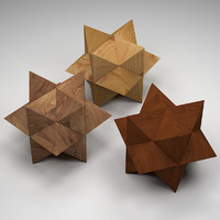 Wooden star puzzle toy
