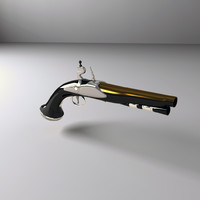3d model pirate pistol