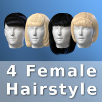 hair female 3d model