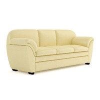 3d cream leather sofa model