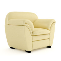 cream leather armchair max