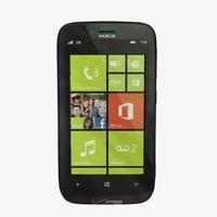 3d nokia lumia 822 black model