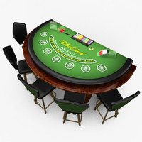 Casino BlackJack Table - Green