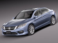 3d honda accord sedan 2013