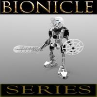 3d lego bionicle kopaka - model