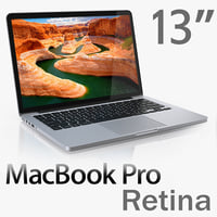 3d model macbook pro retina 13-inch