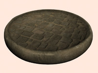 cobble floor turntable 3d max