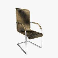 ratan chair 3d model