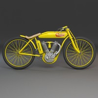 motorbike vintage obj