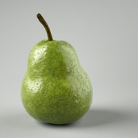 green pear 3d obj