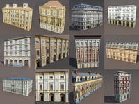 Neoclassical Building Pack Low poly