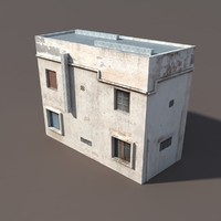 Derelict Building Low poly 3d Model