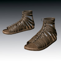 roman sandals 3d obj