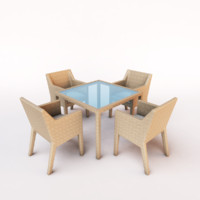 dining set_wicker