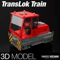 3d model translok train machine
